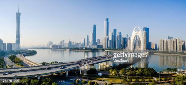 urban architecture of guangzhou city,guangdong province,china - guangzhou stock-fotos und bilder