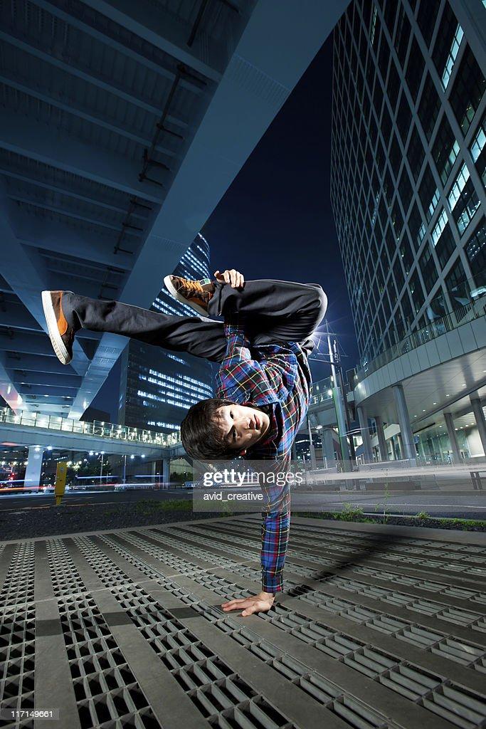 Urban Asian Breakdancer : Stock Photo