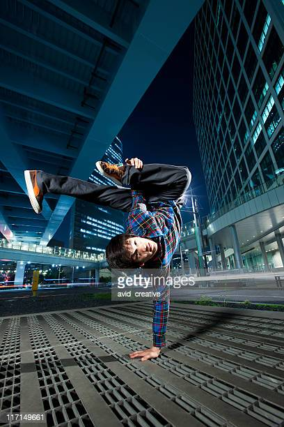 urban asian breakdancer - breakdancing stock photos and pictures