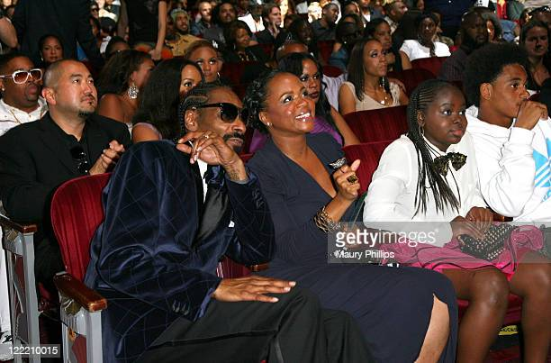 Urban Awards Icon Snoop Dogg and wife Shante Broadus in the audience during the 11th Annual BMI Urban Awards held at the Pantages Theatre on August...