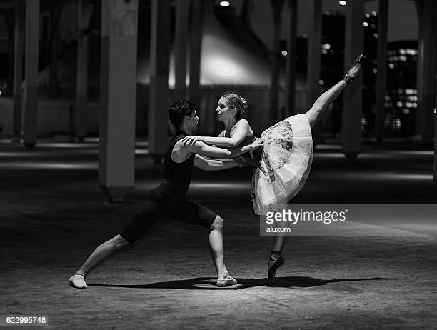 urban ballet performance - male ballet dancer stock photos and pictures