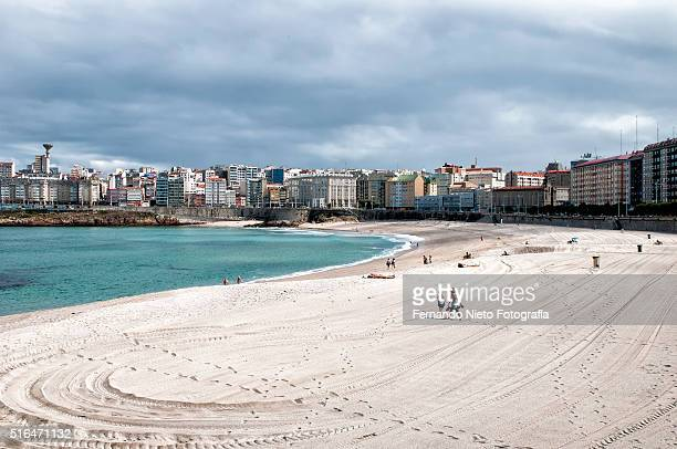Urban beach city of A Coruna in Spain