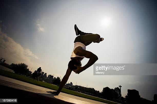 Urban Break Dance-Silhouette