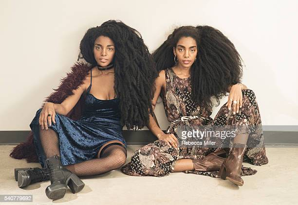 Urban Bush Babes bloggers Cipriana Quann and twin sister TK Wonder Quann are photographed for Nylon Magazine on January 20 2016 in New York City