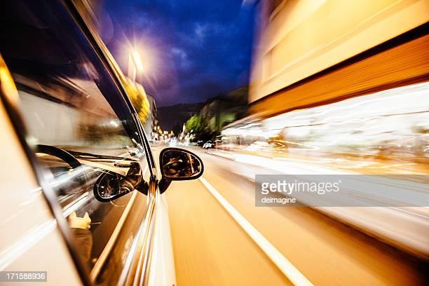 Urban Auto in der Nacht. Rechten guide