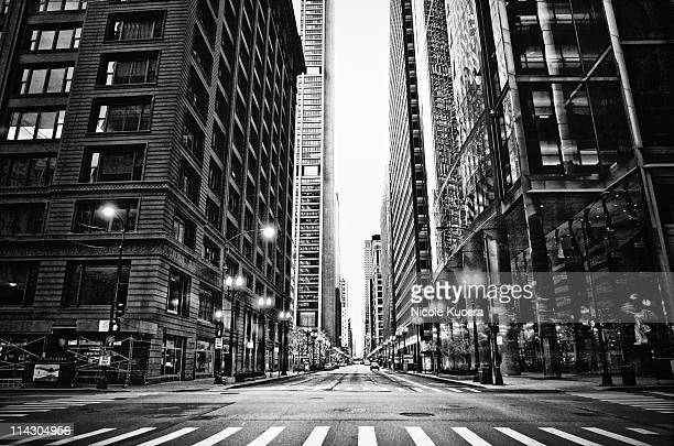 Urban Chicago city Intersection of streets
