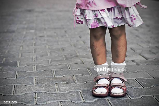 urban childhood - pink shoe stock pictures, royalty-free photos & images