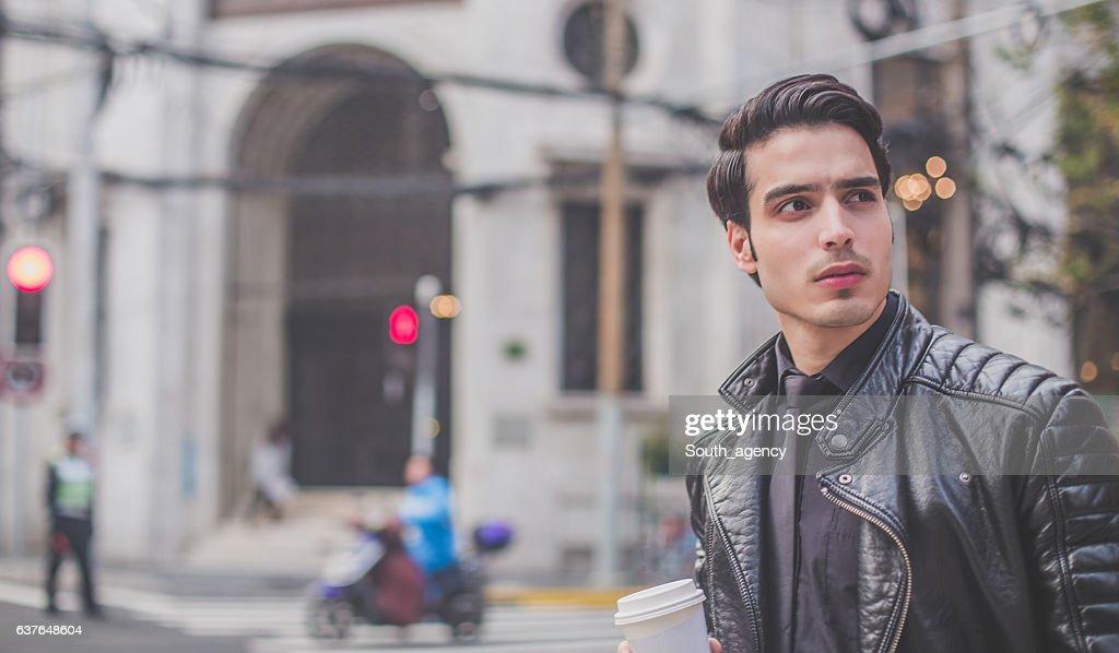Urban city man : Stock Photo