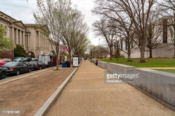 urban cityscape of constitution ave nw at dusk, washington dc, usa - monetary policy stock pictures, royalty-free photos & images