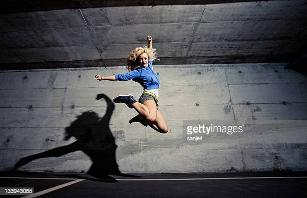urban dance jump - all hip hop models stock photos and pictures