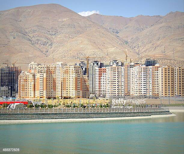 CONTENT] Urban development and desert recovery in the Western Tehran area of Chitgar where a new city growths around the recently opened artificial...
