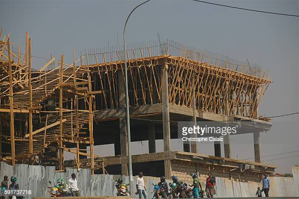 Urban development in Kigali a building under construction Located at Rwandas geographical heart the rapidly growing City of Kigali is the countrys...