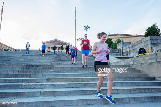 Urban Übung in Philadelphia, nur wenige Schritte entfernt