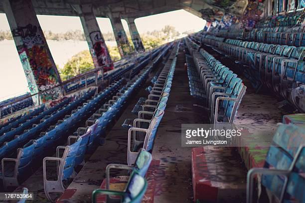 CONTENT] Urban Exploration Graffiti in the abandoned Miami Marine Stadium