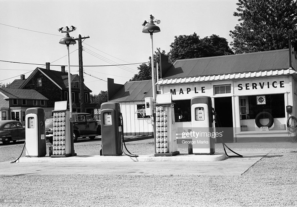 Urban gas station : Stock Photo