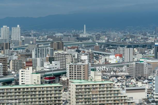 urban highway running in the center of osaka city in osaka prefecture of japan - 神戸市 ストックフォトと画像