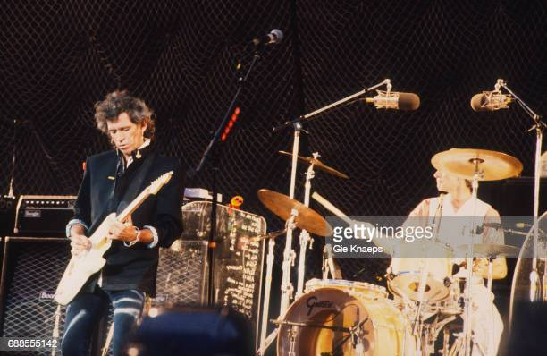 Urban Jungle Tour Keith Richards Charlie Watts The Rolling Stones Feyenoord Stadion Rotterdam Holland