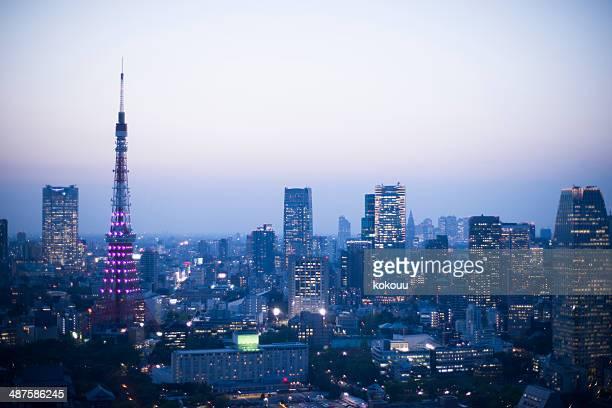 都会の景観や東京タワー