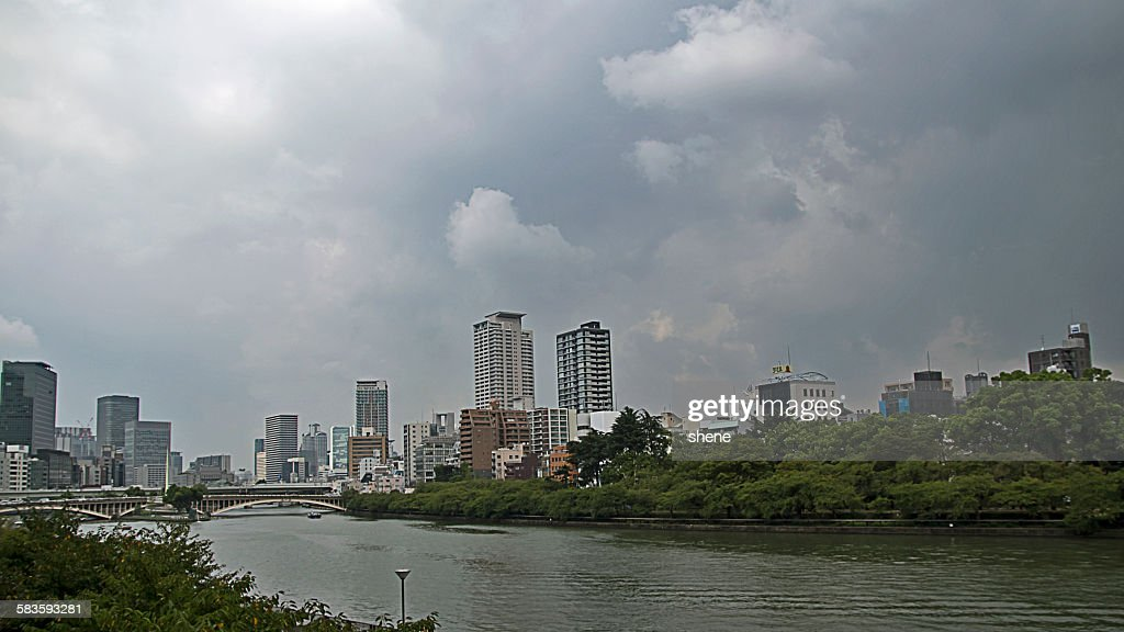 Urban Landscape in Osaka, Japan : Stock Photo