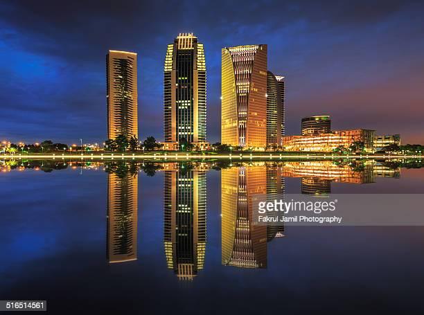 urban landscape of putrajaya - putrajaya stock photos and pictures