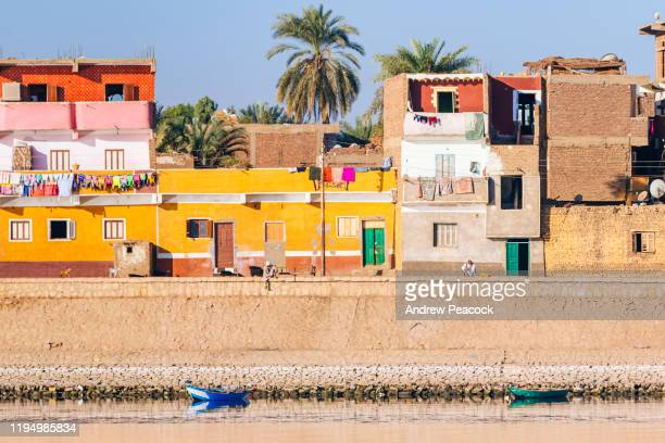 urban landscape on the bank of the nile - north africa stock pictures, royalty-free photos & images
