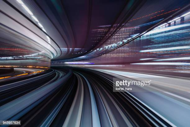 Urban landscape with high-speed blur motion