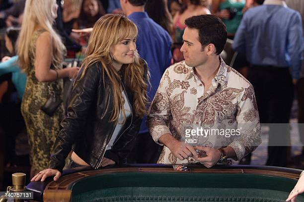 LAS VEGAS Urban Legend Episode 15 Pictured Jimmie Johnson as Himself Molly Sims as Delinda Deline Photo By Paul Drinkwater/NBC/NBCU Photo Bank