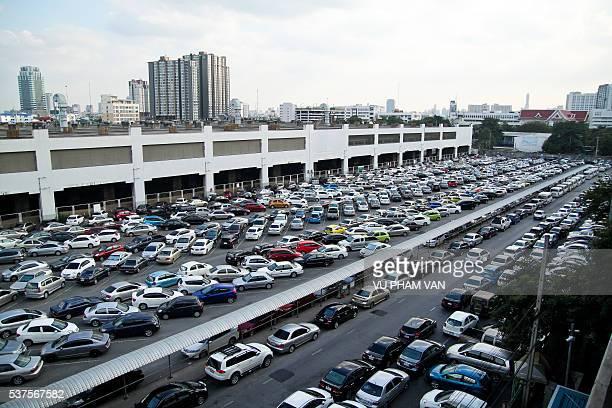 Urban life in Bangkok city, Thailand