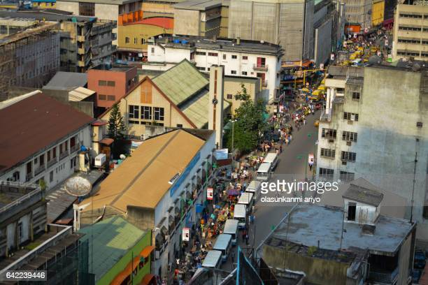 urban life in lagos - nigeria stock pictures, royalty-free photos & images