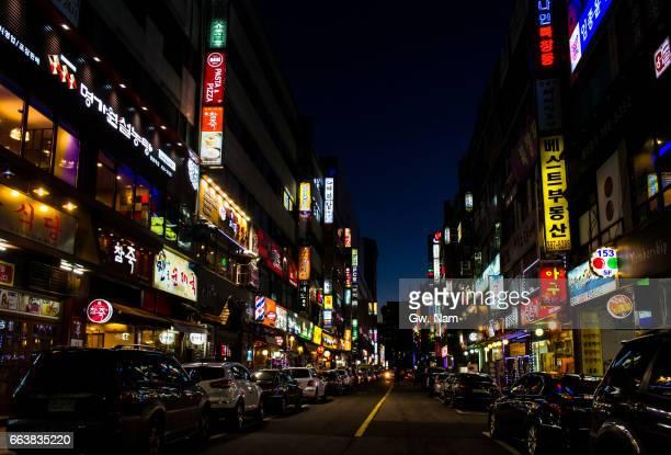 urban life in nighttime