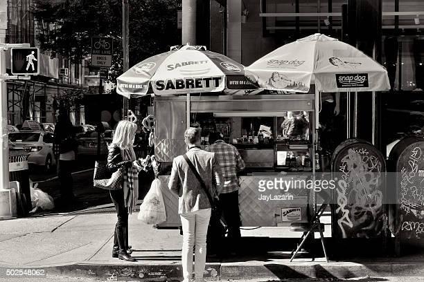 Urban Life, New York City, People Buying Fast Food, SoHo