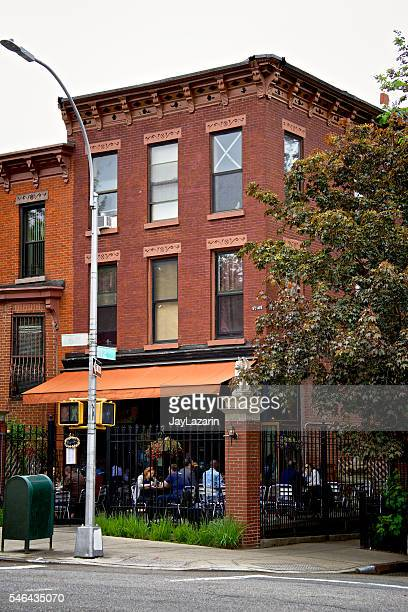 Urban Life, New York City, People, Cafe, Park Slope Brooklyn.