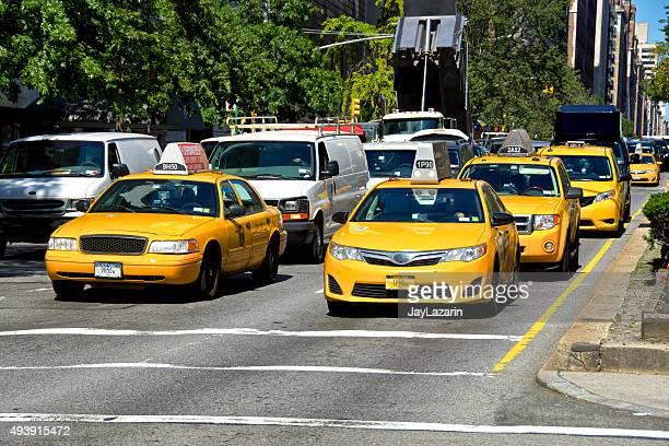 Vida Urbana, a cidade de Nova Iorque de congestionamento de tráfego, Park Ave, Manhattan