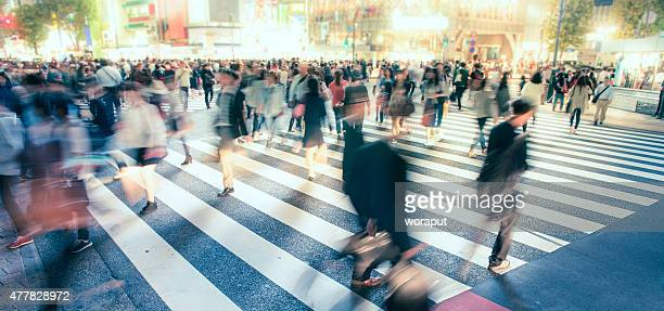 urban life - motion blur stock photos and pictures