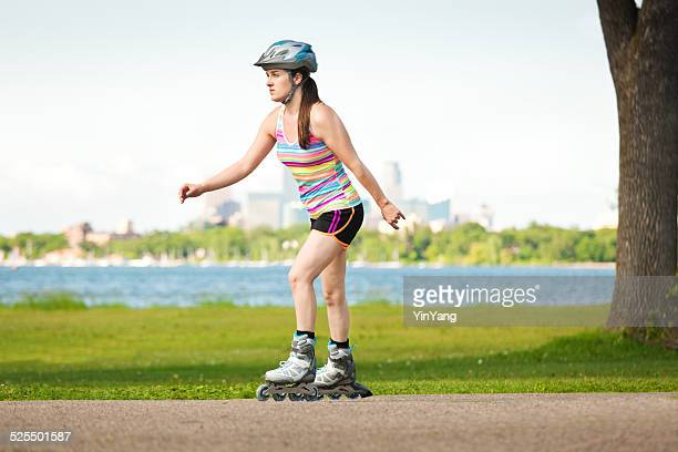 Urban Lifestyle-Linie Skater Skatting in der City Park