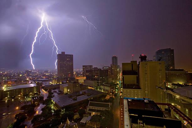 Urban Lightning Storm Wall Art
