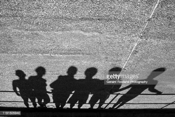 urban line up - shadow stock pictures, royalty-free photos & images