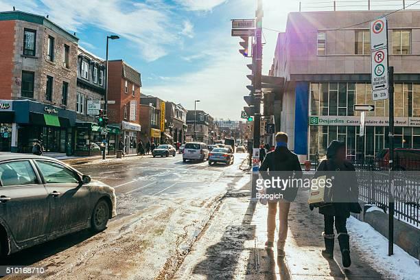 Urban Montreal Quebec Street Scene on Mont Royal Canada