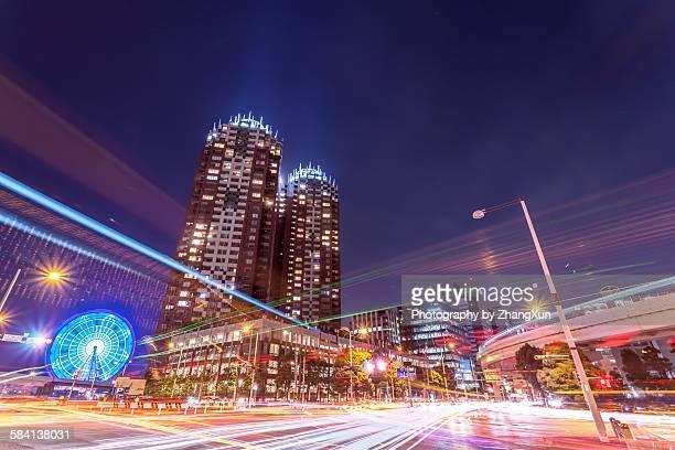 Urban night view at Tokyo Ariake