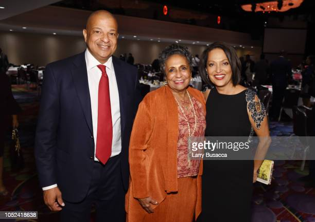 Urban One CEO Alfred Liggins Radio One Inc Founder Cathy Hughes Executive Director Walter Kaitz Foundation Michelle Ray pose at the 35th Anniversary...