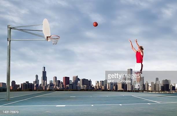 Städtischen Outdoor-Basketball