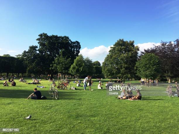 urban park scene - public park stock pictures, royalty-free photos & images