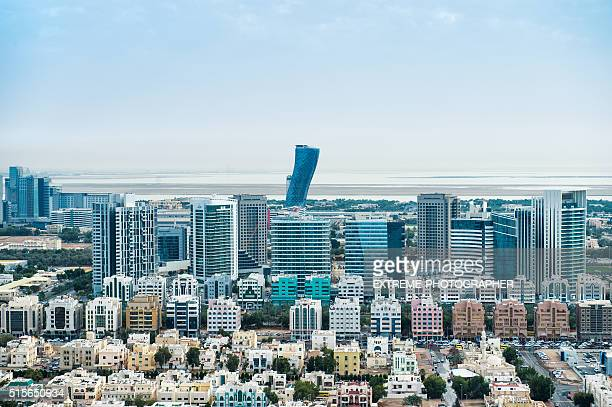 Urban part of Abu Dhabi viewed from the air