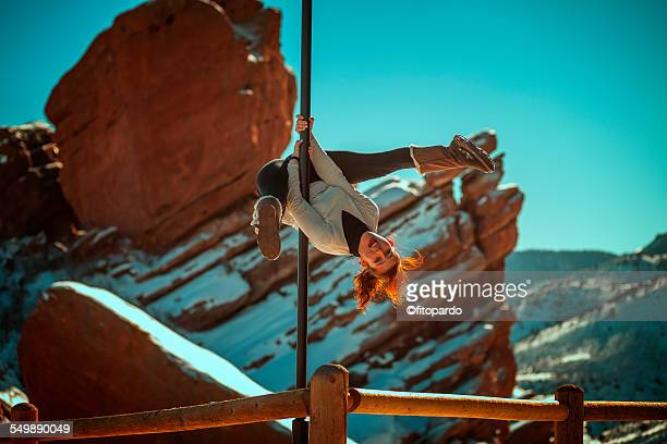 Urban pole (pole fitness) Red Rocks, Colorado