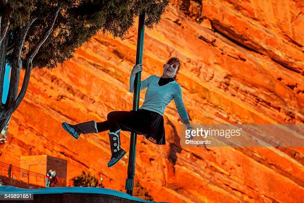 Urban pole (pole fitness) Red Rocks, Colorado