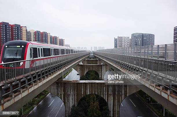 Urban railway in city kunming