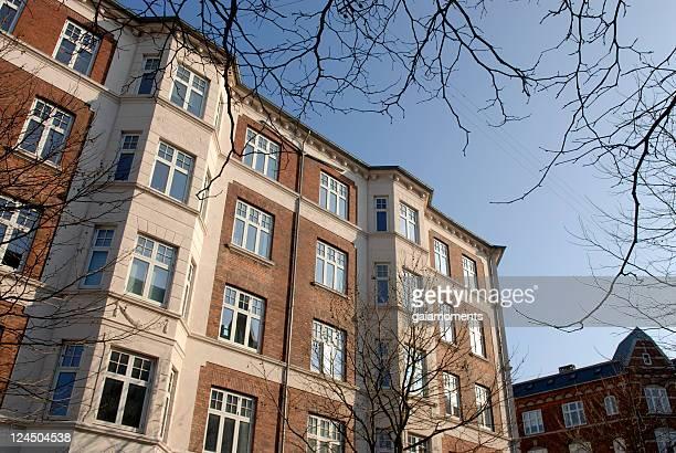 urban real estate - kopenhagen stockfoto's en -beelden