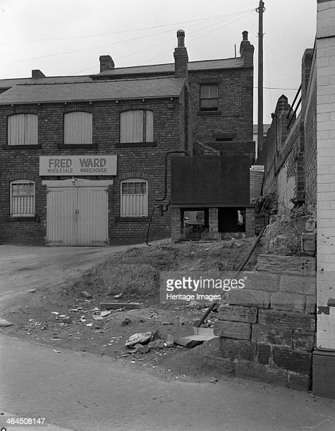 Urban regeneration in Mexborough South Yorkshire 1966 The wholesale warehouse of greengrocer Fred Ward was photographed in 1966 prior to being...