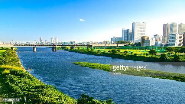 urban river - 川崎市 ストックフォトと画像