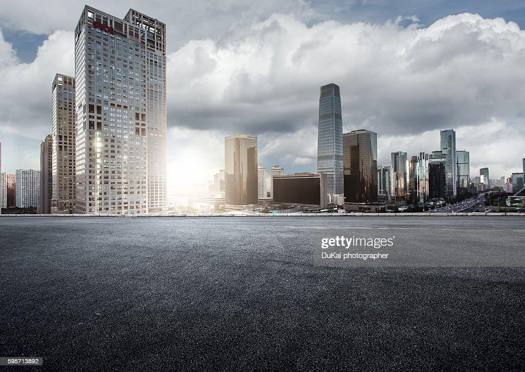 Urban road in beijing : Stock Photo